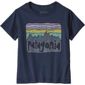Patagonia Fitz Roy Skies Organic T-Shirt Kids new navy